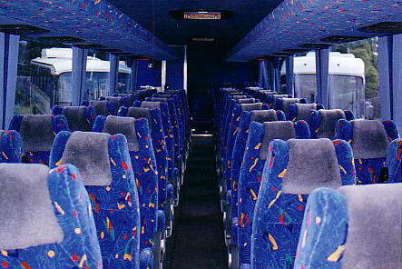 Inside oue Large Coach